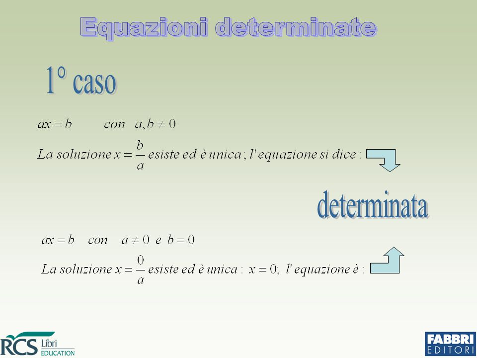 Equazioni determinate
