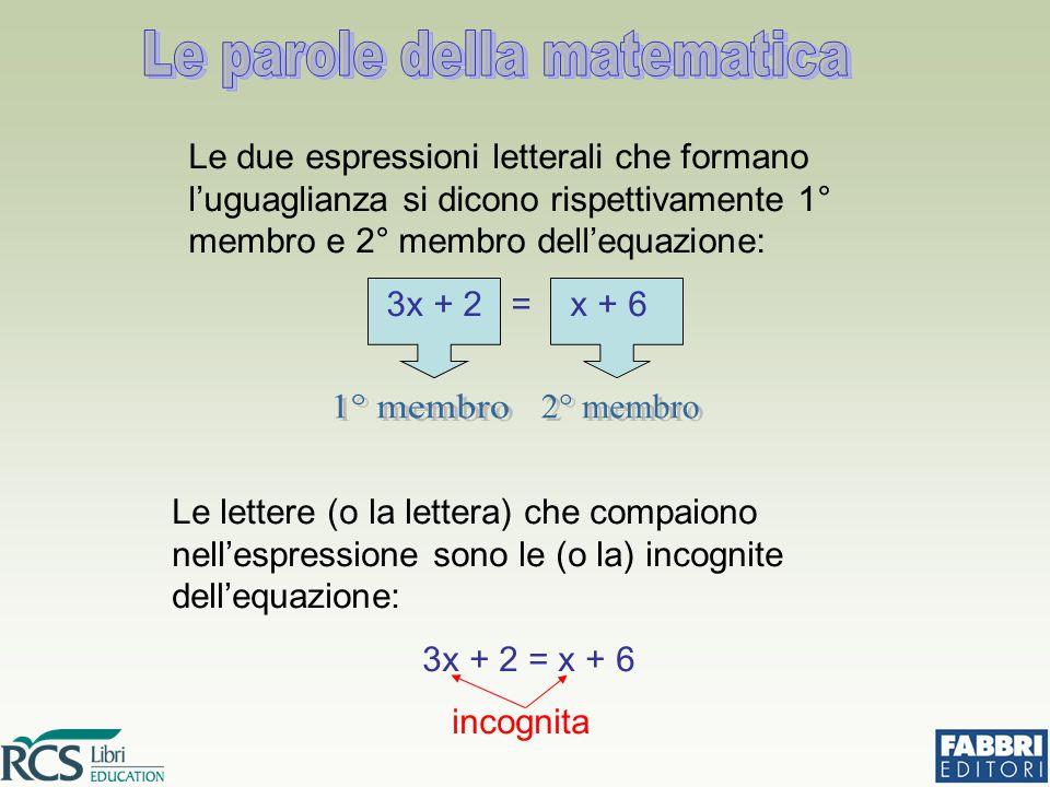 Le parole della matematica