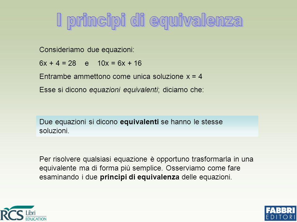 I principi di equivalenza