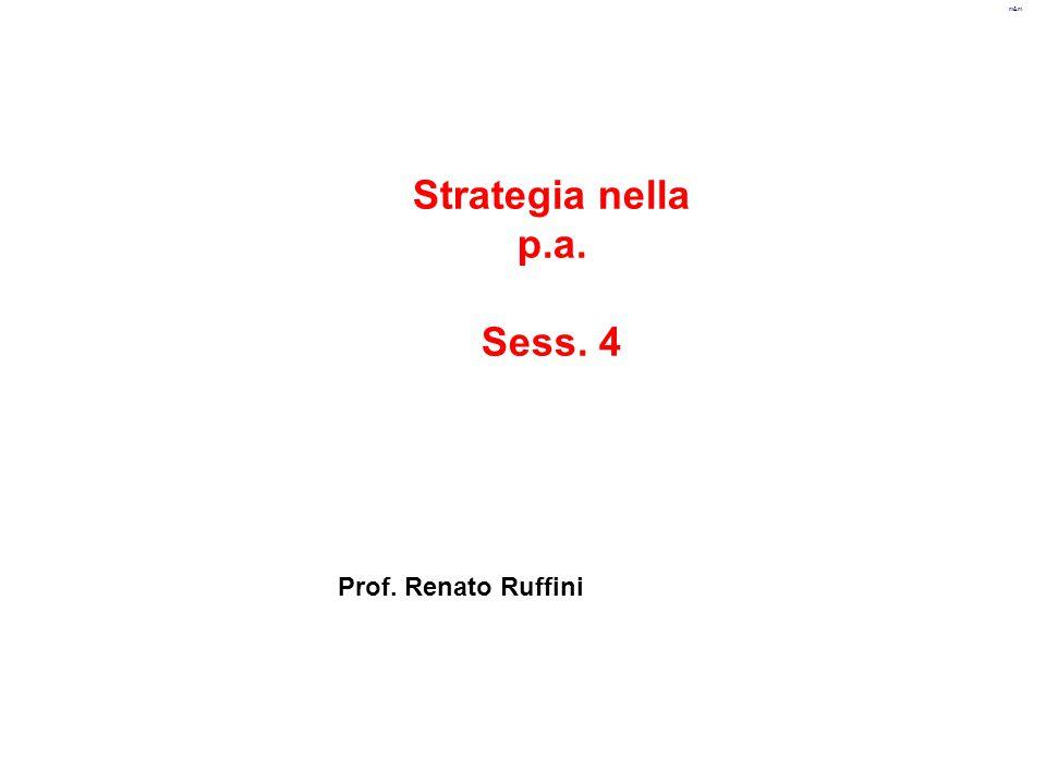 Strategia nella p.a. Sess. 4