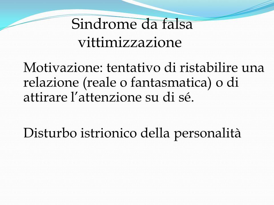 Sindrome da falsa vittimizzazione