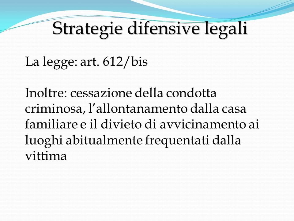 Strategie difensive legali