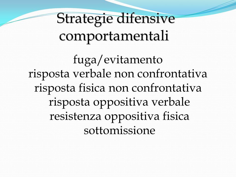 Strategie difensive comportamentali