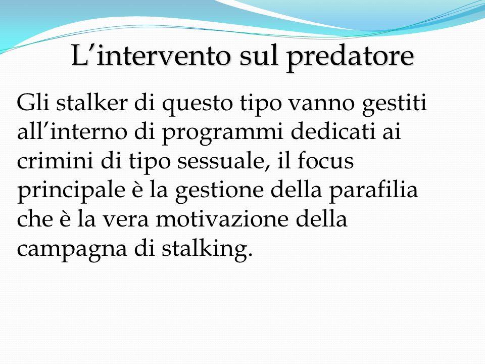 L'intervento sul predatore