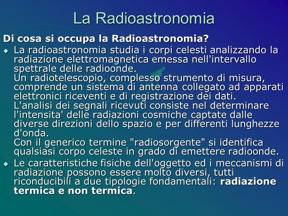 La Radioastronomia Di cosa si occupa la Radioastronomia