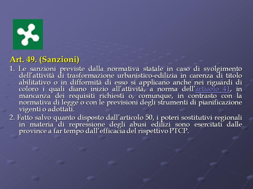 Art. 49. (Sanzioni)