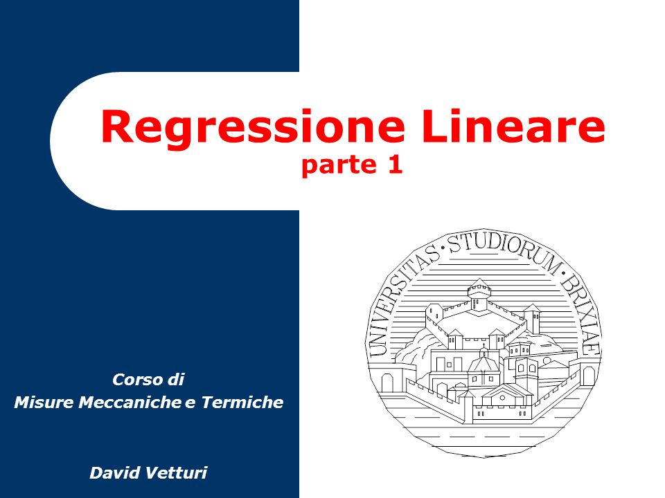 Regressione Lineare parte 1