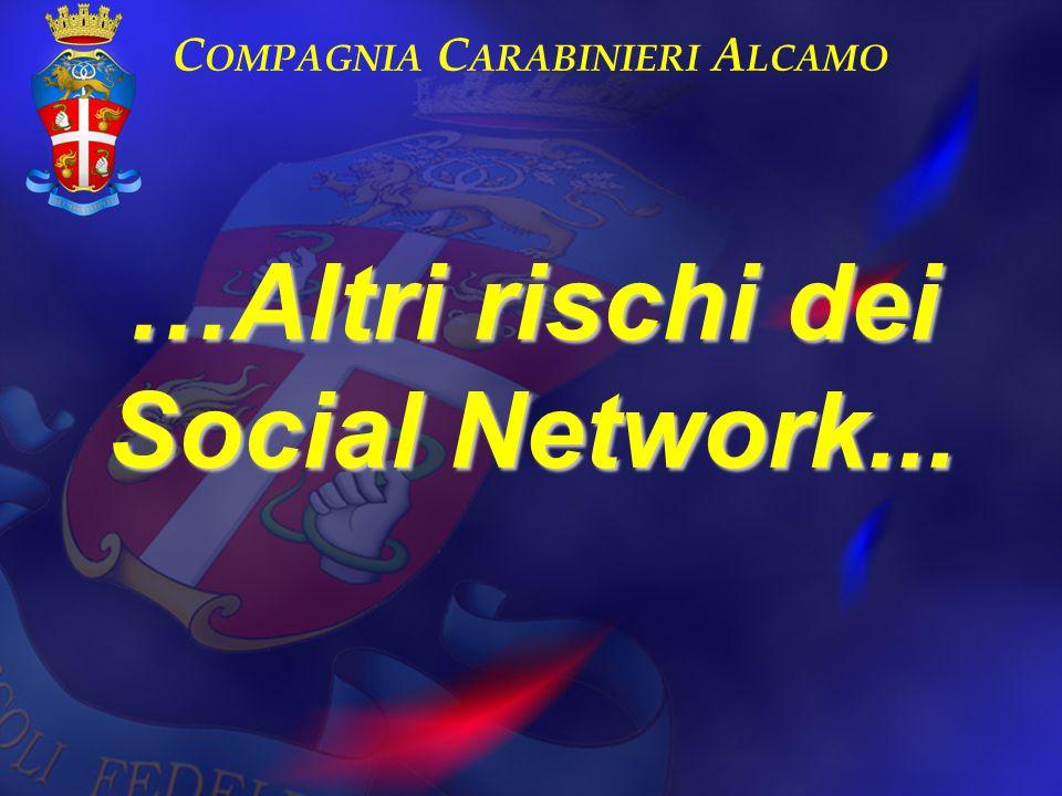 Compagnia Carabinieri Alcamo …Altri rischi dei Social Network...