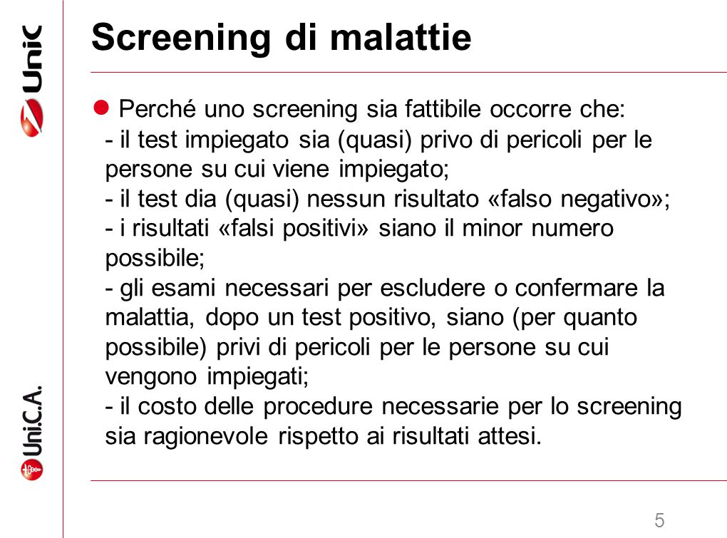 Screening di malattie