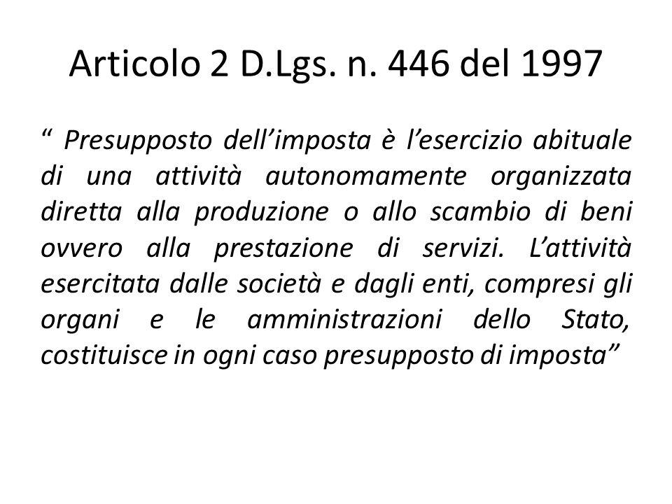 Articolo 2 D.Lgs. n. 446 del 1997
