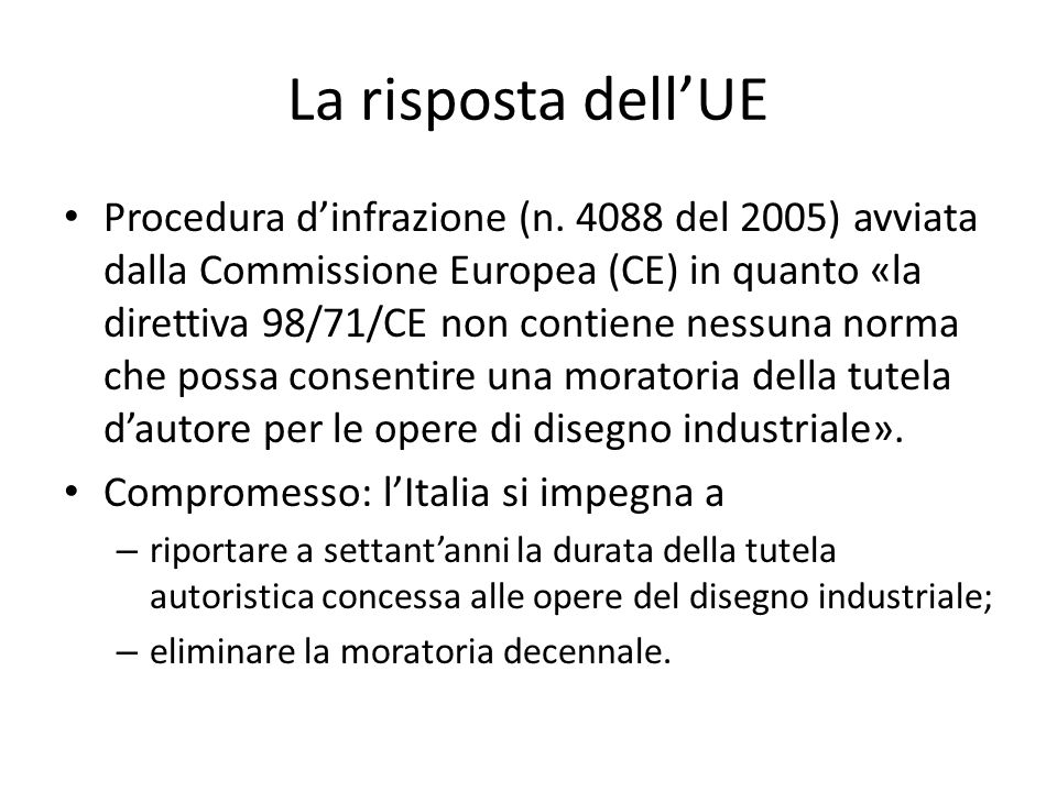 La risposta dell'UE