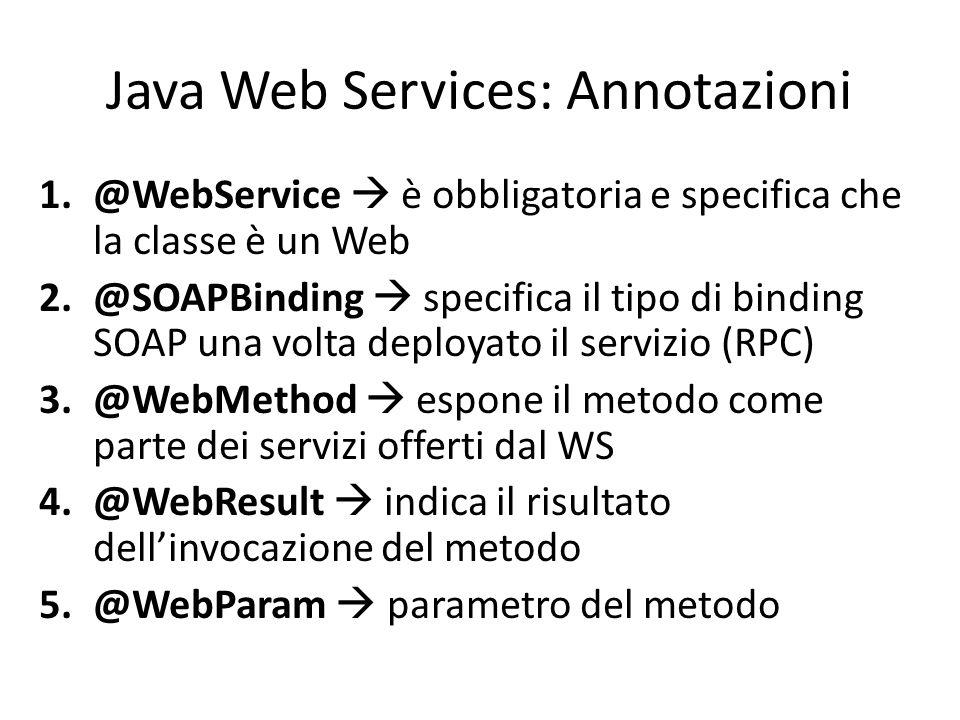 Java Web Services: Annotazioni