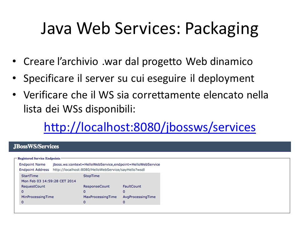 Java Web Services: Packaging