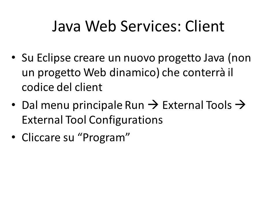 Java Web Services: Client
