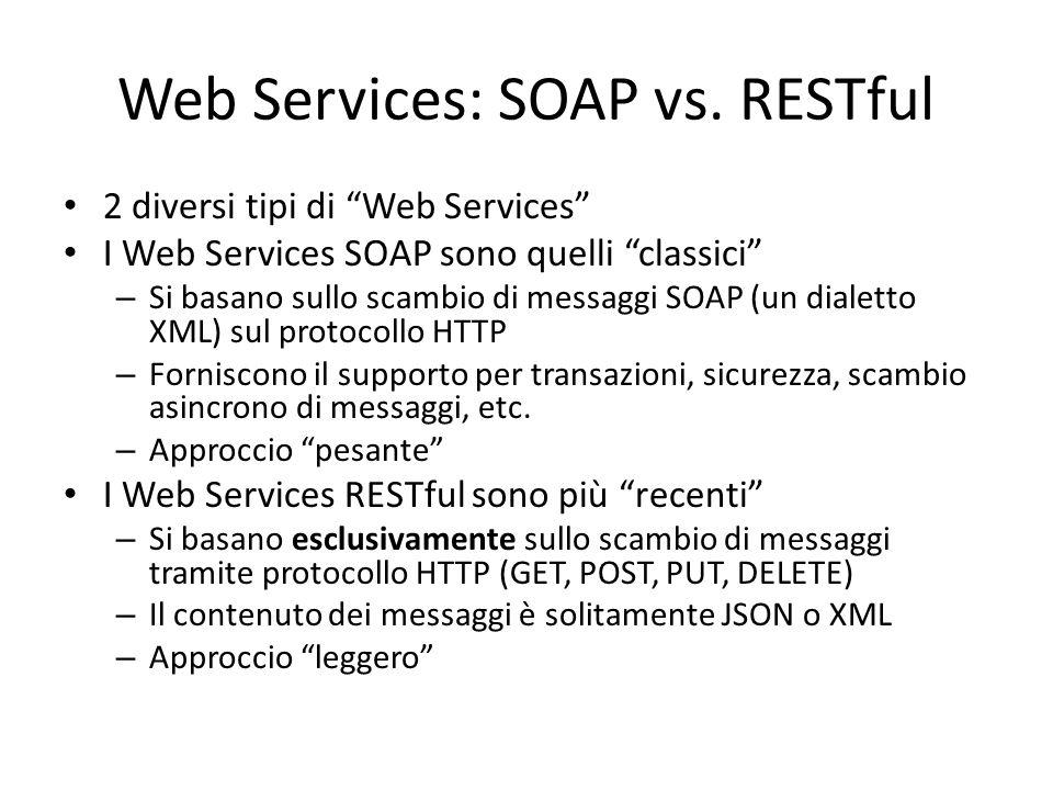 Web Services: SOAP vs. RESTful