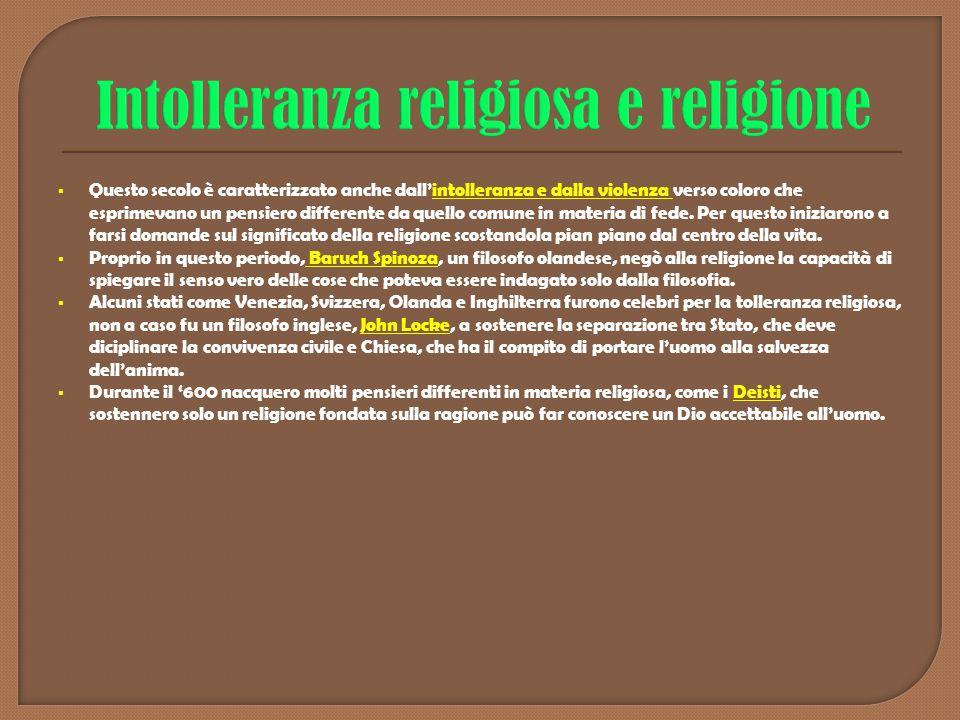 Intolleranza religiosa e religione
