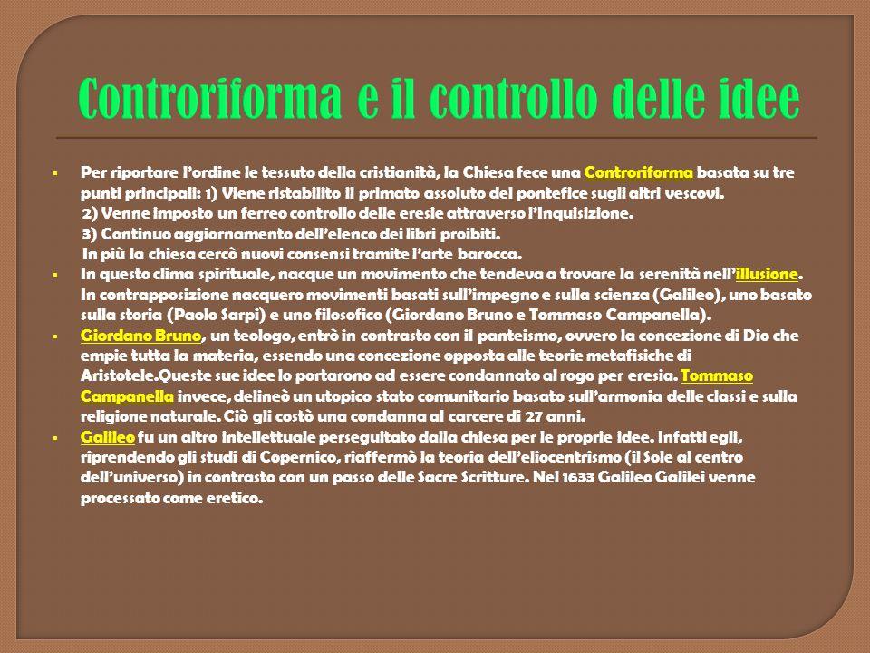 Controriforma e il controllo delle idee