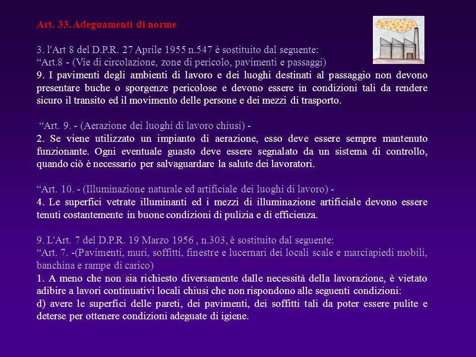 Art. 33. Adeguamenti di norme
