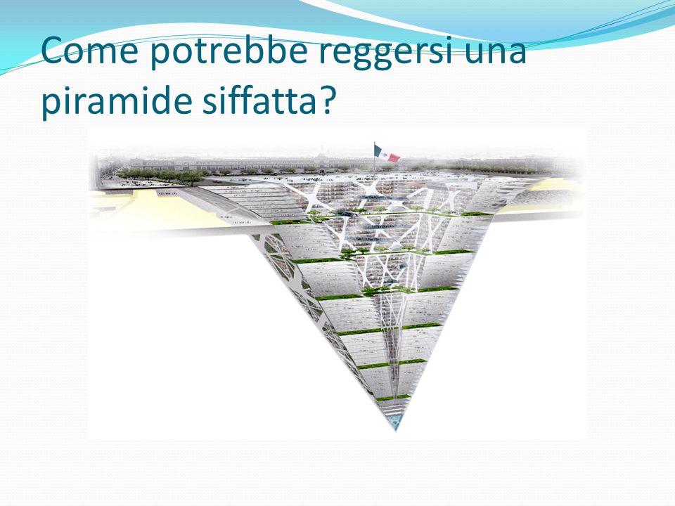 Come potrebbe reggersi una piramide siffatta