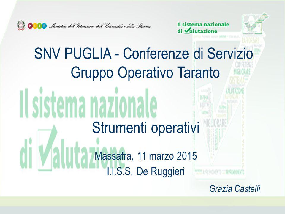 SNV PUGLIA - Conferenze di Servizio Gruppo Operativo Taranto