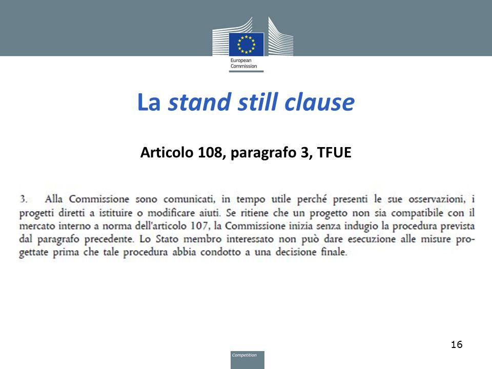 Articolo 108, paragrafo 3, TFUE