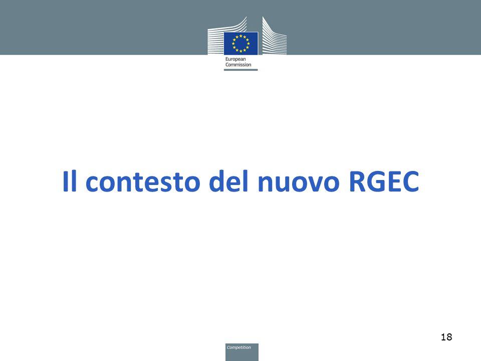 Il contesto del nuovo RGEC