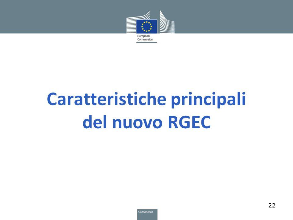 Caratteristiche principali del nuovo RGEC