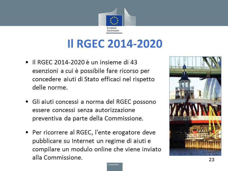 Il RGEC 2014-2020