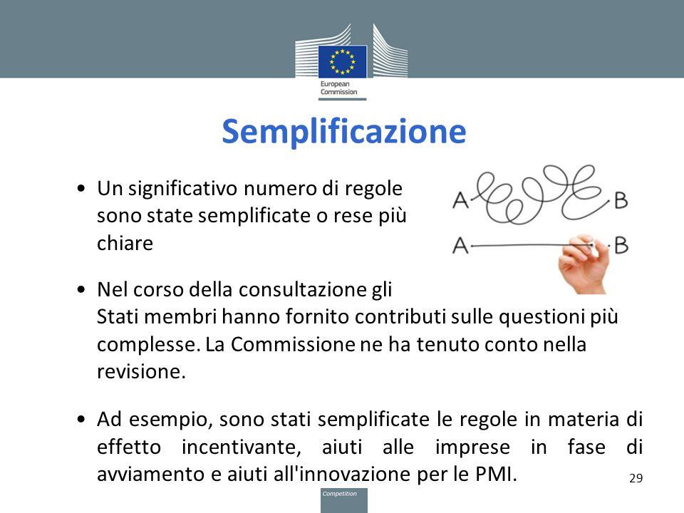 Semplificazione Un significativo numero di regole sono state semplificate o rese più chiare.