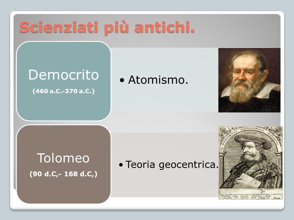 Scienziati più antichi.