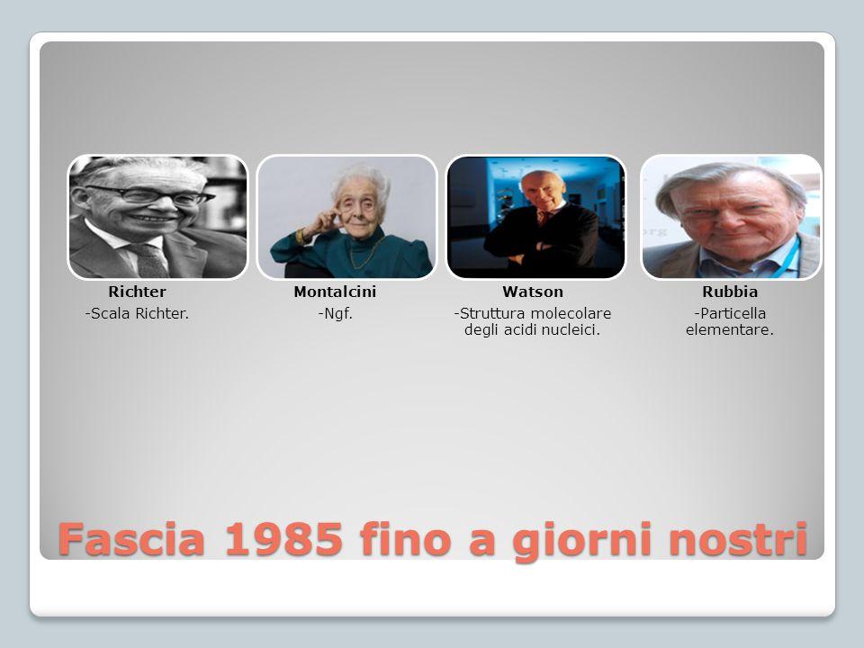 Fascia 1985 fino a giorni nostri