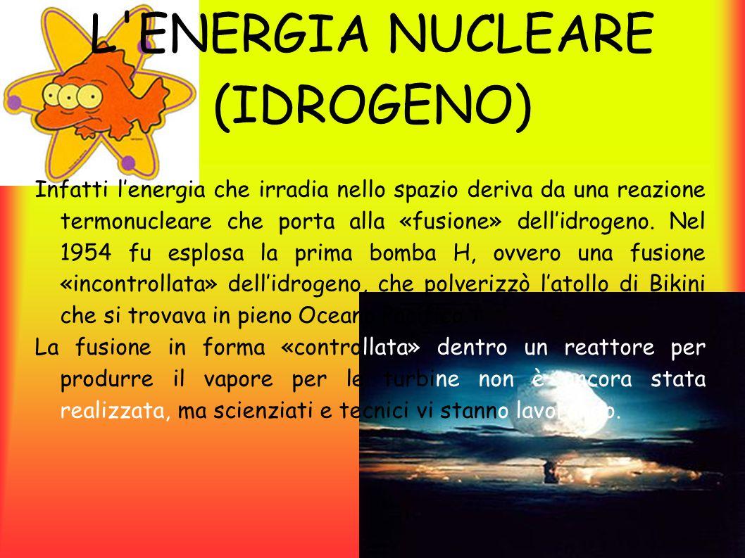 L ENERGIA NUCLEARE (IDROGENO)