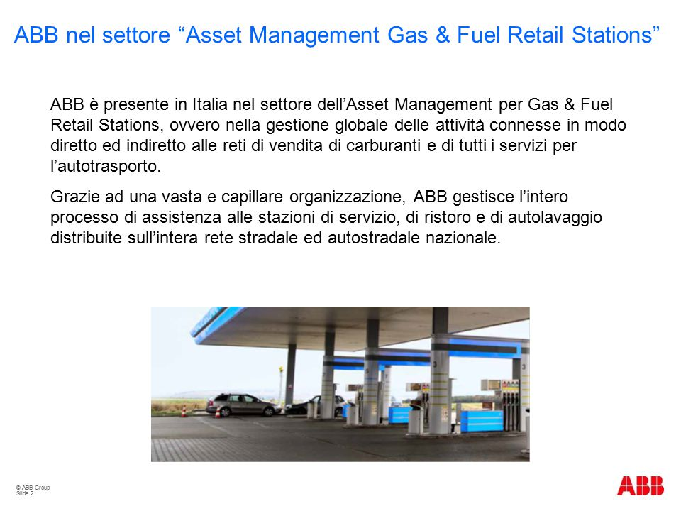 ABB nel settore Asset Management Gas & Fuel Retail Stations