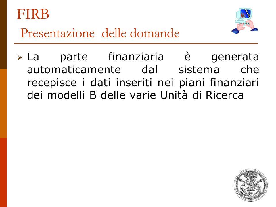 FIRB Presentazione delle domande