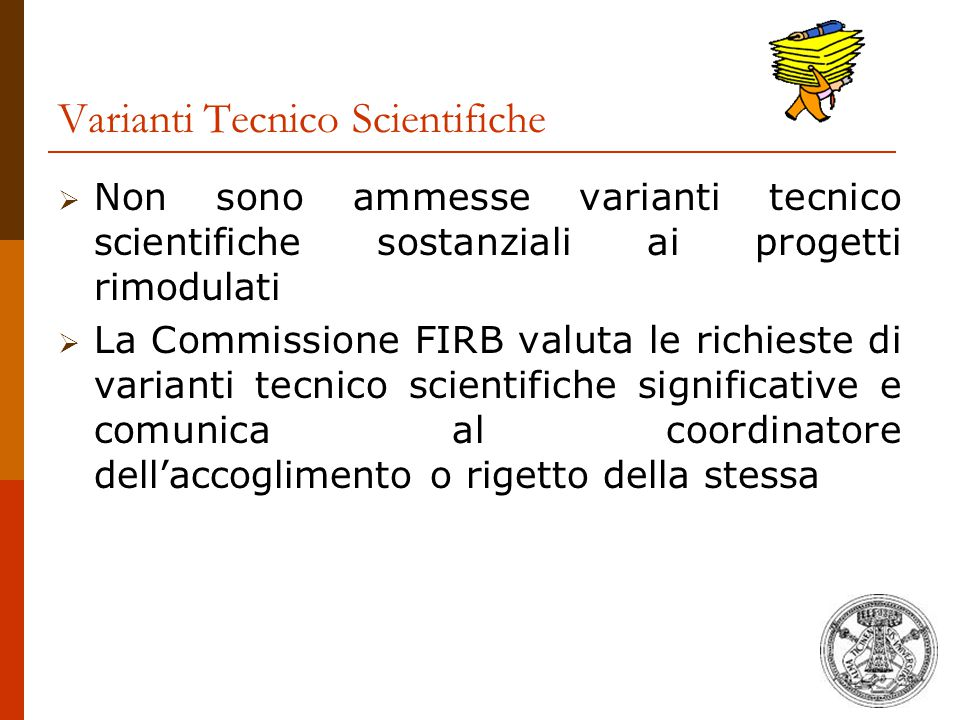 Varianti Tecnico Scientifiche
