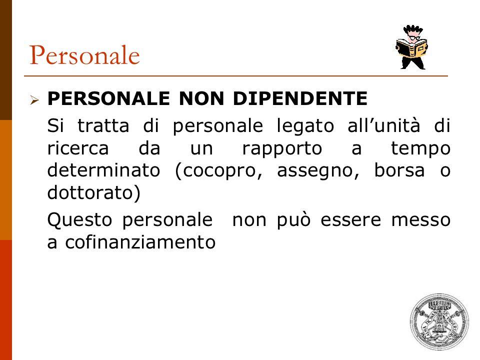 Personale PERSONALE NON DIPENDENTE