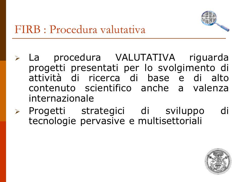 FIRB : Procedura valutativa
