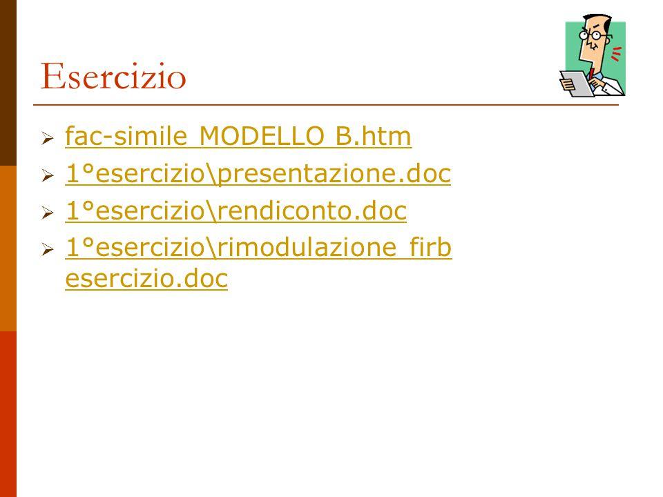 Esercizio fac-simile MODELLO B.htm 1°esercizio\presentazione.doc