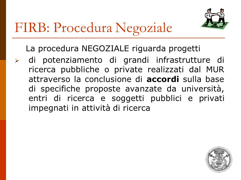 FIRB: Procedura Negoziale