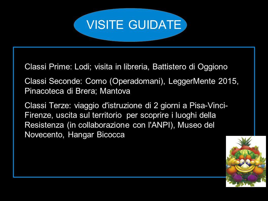 VISITE GUIDATE Classi Prime: Lodi; visita in libreria, Battistero di Oggiono.