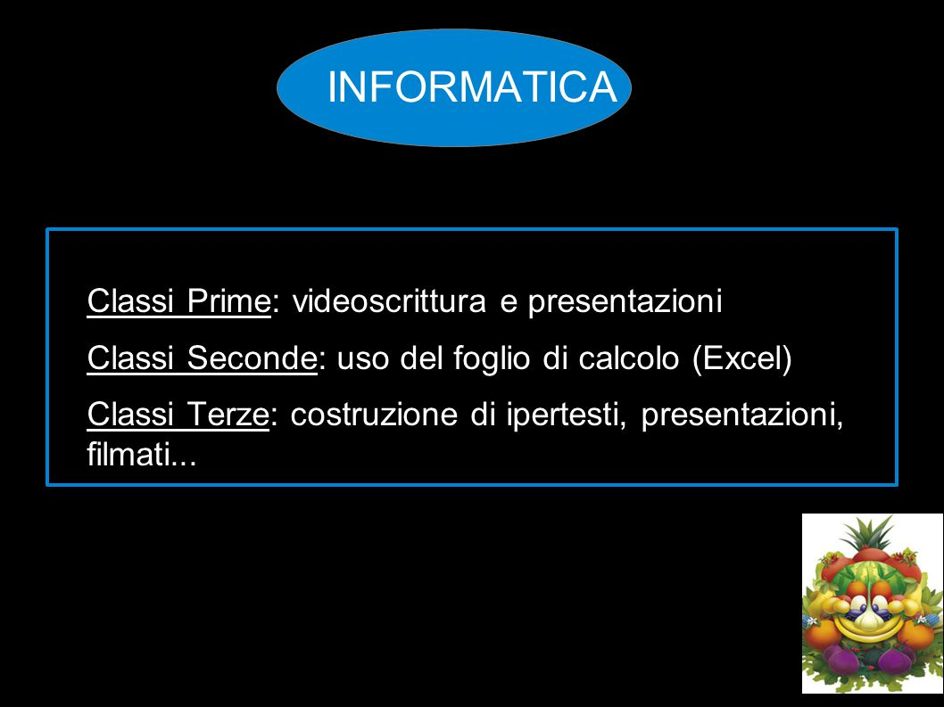 INFORMATICA Classi Prime: videoscrittura e presentazioni