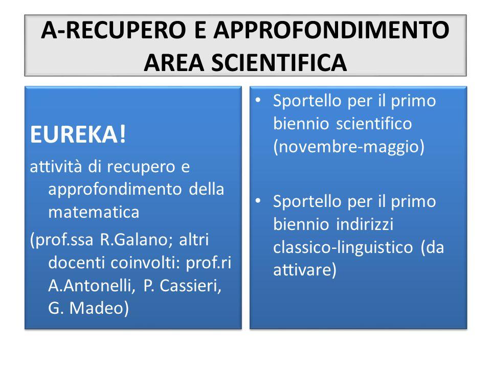 A-RECUPERO E APPROFONDIMENTO AREA SCIENTIFICA
