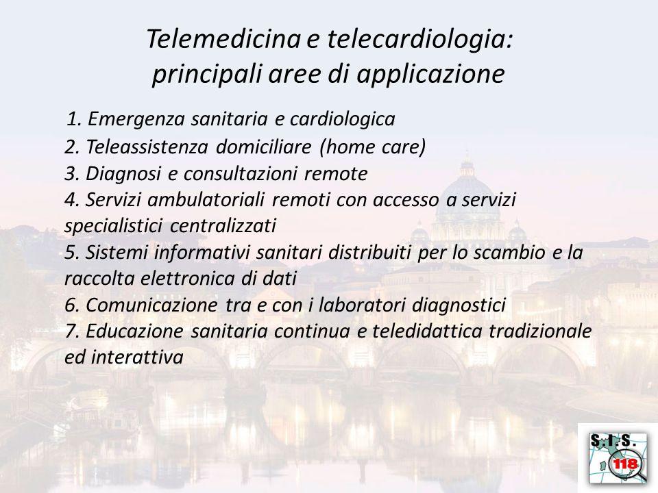 Telemedicina e telecardiologia: principali aree di applicazione