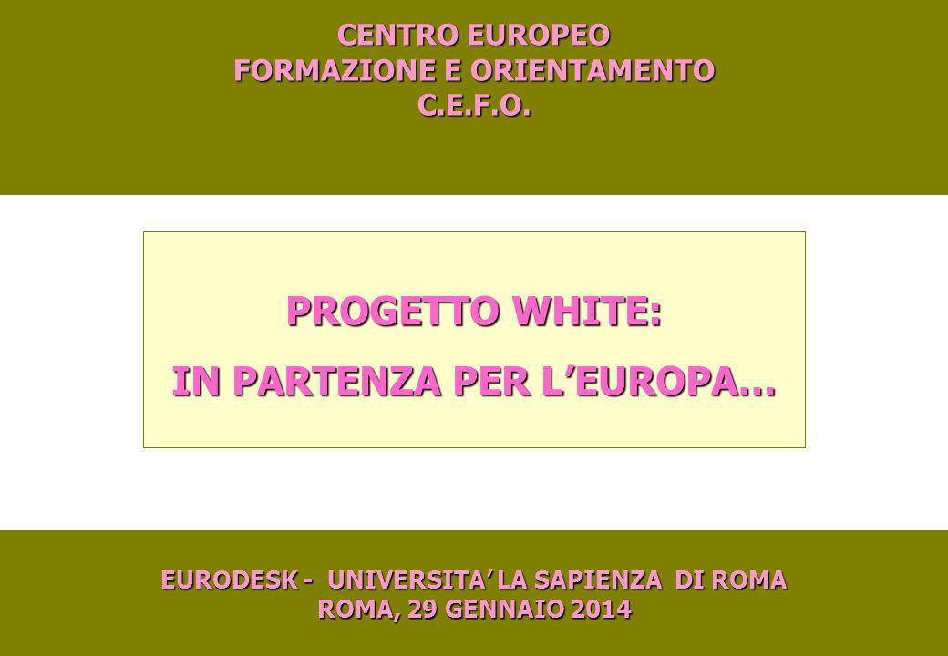 PROGETTO WHITE: IN PARTENZA PER L'EUROPA…