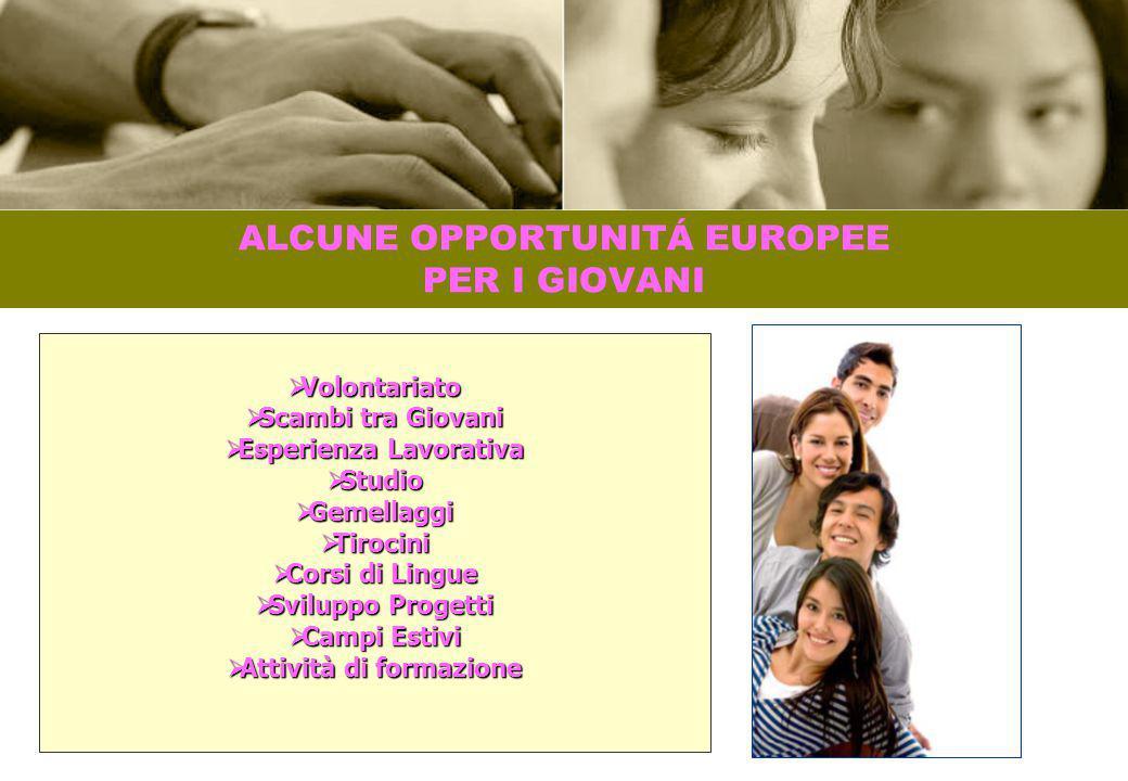 ALCUNE OPPORTUNITÁ EUROPEE PER I GIOVANI