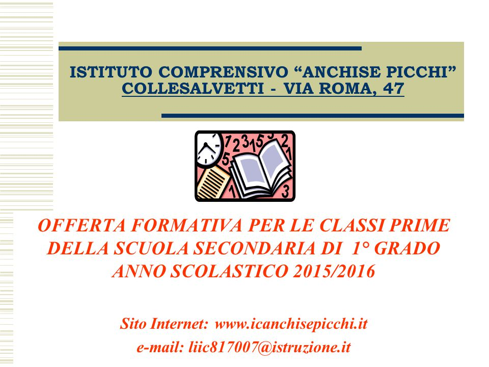 ISTITUTO COMPRENSIVO ANCHISE PICCHI COLLESALVETTI - VIA ROMA, 47