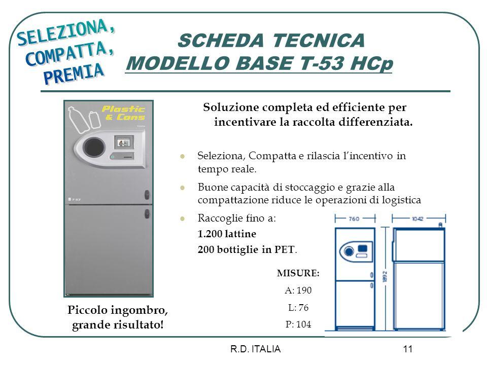 SCHEDA TECNICA MODELLO BASE T-53 HCp