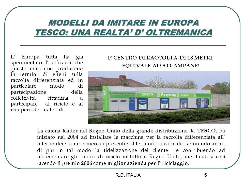 MODELLI DA IMITARE IN EUROPA TESCO: UNA REALTA' D' OLTREMANICA