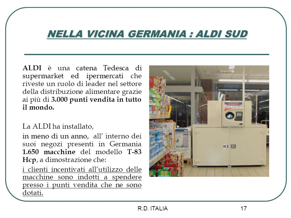 NELLA VICINA GERMANIA : ALDI SUD