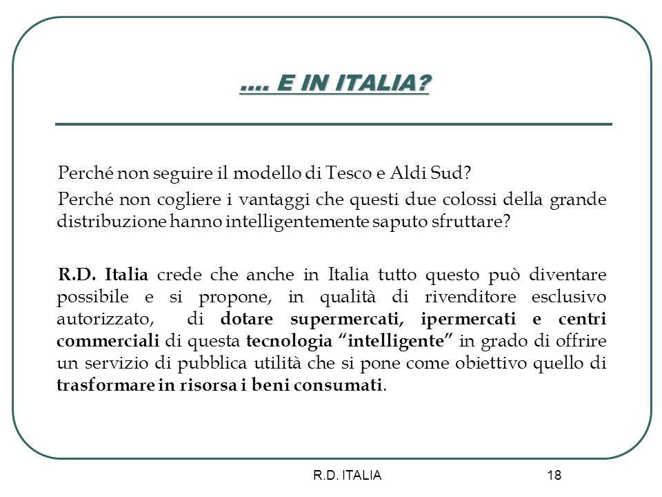 …. E IN ITALIA Perché non seguire il modello di Tesco e Aldi Sud